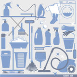 Vector illustratuon of cleaning. Stock Image