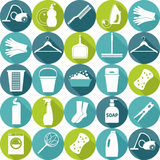 Vector Illustratuon Of Cleaning.Icon Background. Royalty Free Stock Photography
