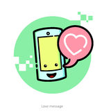 Vector illustrayion for Valentines Day Royalty Free Stock Photos