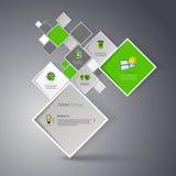 Vector a ilustração abstrata do fundo dos quadrados/molde infographic com lugar para seu índice Fotografia de Stock Royalty Free