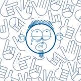 Vector a ilustração colorida do menino triste de grito dos desenhos animados isolado Imagens de Stock
