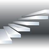 Vector a ilustração com as escadas preto e branco no fundo do drey Imagens de Stock