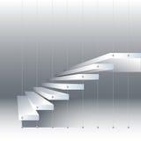 Vector a ilustração com as escadas preto e branco no fundo do drey Fotografia de Stock Royalty Free
