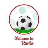 Vector a ilustração, copo do futebol do logotipo no futebol Rússia 2018 grupo do projeto gráfico de bandeiras com abstrações mode Fotografia de Stock Royalty Free