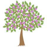 Vector a ilustração da árvore da flor Fotos de Stock Royalty Free