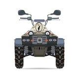 Vector a ilustração da bicicleta do quadrilátero no projeto liso Foto de Stock Royalty Free
