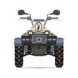Vector a ilustração da bicicleta do quadrilátero no projeto liso Fotografia de Stock