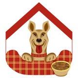 Vector a ilustração da casa ou do hotel para cães Imagens de Stock Royalty Free