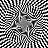 Ilustração do vetor do fundo preto e branco da ilusão óptica Foto de Stock