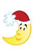 Vector a ilustração da lua do Natal ilustração royalty free