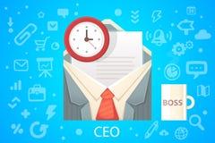 Vector a ilustração da ocupação do escritório do envelope do caráter com Foto de Stock