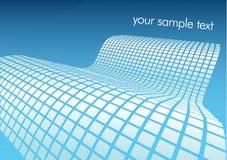 Vector a ilustração da onda digital azul Fotografia de Stock Royalty Free