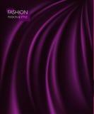 Vector a ilustração da textura roxa luxuosa elegante lisa da seda ou do cetim Pode ser usado como o fundo Foto de Stock Royalty Free