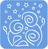 Vector a ilustração das rosas Imagem de Stock Royalty Free