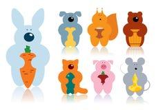 Animais dos desenhos animados Fotografia de Stock