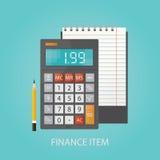 Vector a ilustração de artigos e de elementos do fluxo de trabalho do negócio, de Imagens de Stock