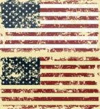 Vector a ilustração de bandeiras riscadas velhas dos EUA ilustração do vetor