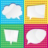 Vector a ilustração de bolhas brancas vazias do diálogo do discurso em c Foto de Stock