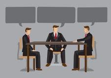Vector a ilustração de homens de negócio com bolhas vazias do discurso sobre Imagem de Stock