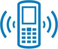 Vector a ilustração de soada do telefone de pilha Foto de Stock