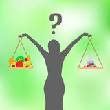 Vector a ilustração de um conceito da nutrição saudável Imagem de Stock
