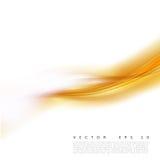 Vector a ilustração de um fundo ondulado alaranjado abstrato, onda amarelo-alaranjada mergulhada lisa, linha com efeito da luz Fotografia de Stock
