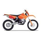 Vector a ilustração de uma bicicleta do enduro dos esportes do plano Imagem de Stock