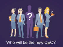 Vector a ilustração de uma equipe do negócio que está junto no Imagens de Stock Royalty Free