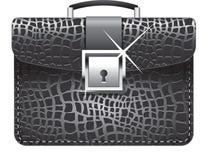 Vector a ilustração de uma pasta de couro preta ilustração royalty free