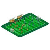 Vector a ilustração do campo do futebol ou de futebol com equipe abstrata ilustração stock