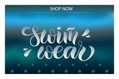 Vector a ilustração do cartaz da rotulação, logotype, texto para a loja de roupa, catálogo, coleção, anúncio, oferta especial, We ilustração royalty free