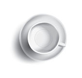 Vector a ilustração do copo vazio do chá ou do café, vista superior Foto de Stock Royalty Free