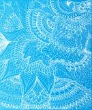 Vector a ilustração do desenho da garatuja no fundo azul Imagens de Stock