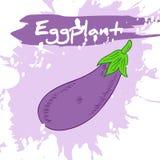 Vector a ilustração do desenho da mão do vegetal com etiqueta Fotos de Stock