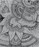 Vector a ilustração do desenho na luz - fundo cinzento da garatuja Imagem de Stock Royalty Free