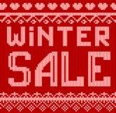 Vector a ilustração do estilo feito malha disconto da venda do inverno para o projeto, Web site, fundo, bandeira Imagem de Stock Royalty Free