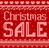 Vector a ilustração do estilo feito malha disconto da venda do Natal para o projeto, Web site, fundo, bandeira Foto de Stock