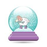 Vector a ilustração do globo da neve com um Natal Imagens de Stock