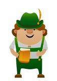 Vector a ilustração do homem o mais oktoberfest do divertimento dos desenhos animados com cerveja Imagem de Stock