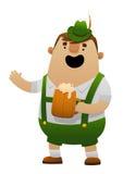 Vector a ilustração do homem o mais oktoberfest dos desenhos animados com cerveja Fotografia de Stock Royalty Free