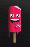 Vector a ilustração do lolly de gelo engraçado, cor roxa Fotografia de Stock Royalty Free