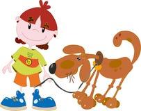 Menino com um cão Imagem de Stock Royalty Free
