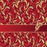 Vector a ilustração do ornamento das penas Fotos de Stock Royalty Free
