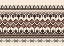 Vector a ilustração do ornamento sem emenda popular ucraniano do teste padrão Ornamento étnico Elemento da beira Ucraniano tradic ilustração royalty free