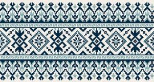 Vector a ilustração do ornamento sem emenda popular ucraniano do teste padrão Ornamento étnico Elemento da beira Ucraniano tradic ilustração do vetor