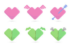 Vector a ilustração dos corações para o dia de Valentim do St Imagem de Stock