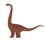 Vector a ilustração lisa do estilo do animal pré-histórico - brontosaurus ilustração do vetor