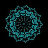 Vector a ilustração, molde floral azul decorativo de paisley, r ilustração royalty free