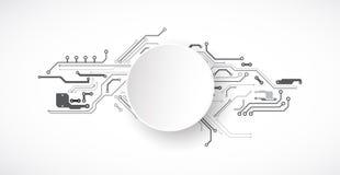 Vector a ilustração, a tecnologia digital da Olá!-tecnologia e a engenharia ilustração do vetor