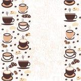 Vector a ilustração, um copo do café do cappuccino, latte, café ilustração stock